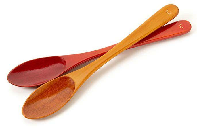 竹製摺漆匙